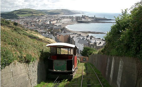 Photo of Aberystwyth from the Cliff Railway