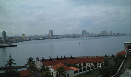 View of Havana's Malecon (seafront)