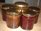 Some of the apple jam and jelly I made last year
