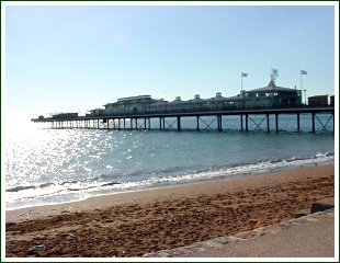 A photo of Paignton beach and pier