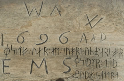 Sample text in Dalecarlian Runes