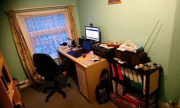 My home office from where I run my global Omniglot empire