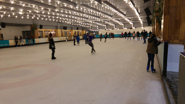 A photo of Queensway ice rink in London - the scene of my slight mishap