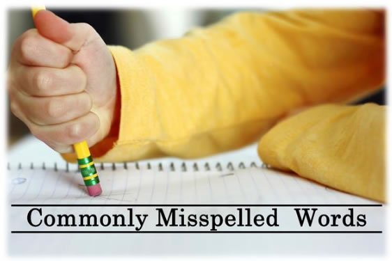 Commonly Mispelled Words