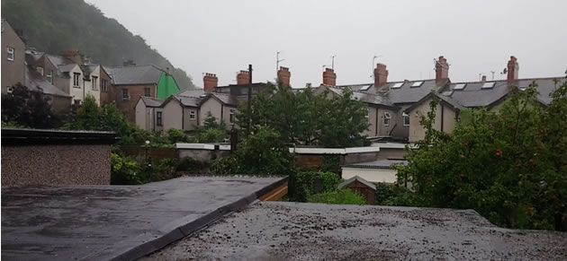 A photo of rain taken from my house